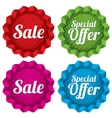 Sale and Special offer price tags set vector image vector image