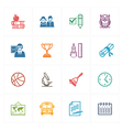 School and Education Icons Set 3 - Colored Series vector image vector image
