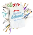 School stationery isolated EPS 10 vector image