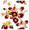 seamless background with hibiscus flowers vector image