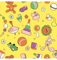 Seamless children background vector image