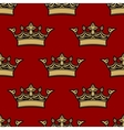 Seamless pattern of victorian crowns vector image vector image