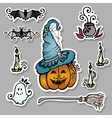 Set of Ornate Halloween Decorations vector image vector image