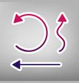 simple set to interface arrows purple vector image