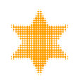 six corner star halftone dotted icon vector image
