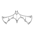 sketch of the bat vector image vector image