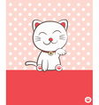 smiling cat vector image vector image