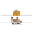 spain salamanca flat landmarks vector image vector image