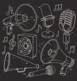 speaker horn microphone and surrounded vector image