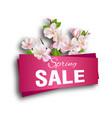 spring sale season discount banner design vector image vector image