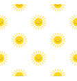 sun cute seamless pattern print sunshine summer vector image