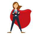 superwoman in formal office suit with red tie and vector image