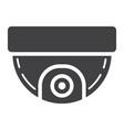 surveillance camera solid icon cctv and security vector image vector image