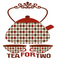 Tea For Two vector image vector image