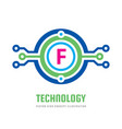 technology letter f - logo template concept vector image