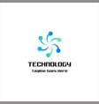 technology symbol logo vector image