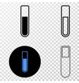 test-tube eps icon with contour version vector image vector image