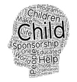 The need for child sponsorship text background vector image vector image