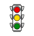 traffic lights with all three colors on vector image vector image
