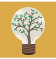 Tree in Bulb vector image vector image