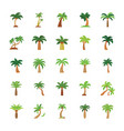 trees flat icons set vector image vector image