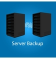 two server backup redundancy mirror for recovery vector image vector image