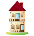 two stories house with balcony vector image vector image