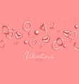 valentines day background with coral hanging vector image vector image
