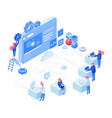 web development isometric concept vector image