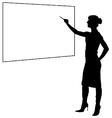 Woman teacher vector image vector image