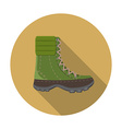Flat design modern of trekking boot icon camping vector image