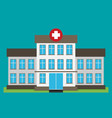 hospital building flat icon vector image