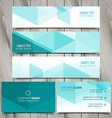 set of blue polygonal business stationery vector image