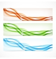 Set of colorful banners with curved lines vector image