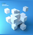 white cubes bunch background vector image