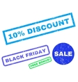 10 Percent Discount Rubber Stamp vector image
