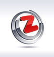 3D z letter icon vector image vector image