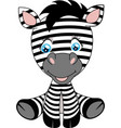 a cute cartoon baby zebra vector image