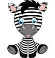 a cute cartoon baby zebra vector image vector image