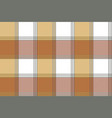 ancient check plaid fabric texture seamless vector image