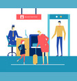 at the airport - flat design style colorful vector image vector image