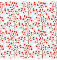 autumn berry pattern autumn seamless background vector image vector image