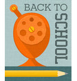 back to school banner poster design vector image