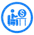 banker office rounded grainy icon vector image vector image