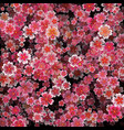 beautiful print with blossoming dark and light vector image