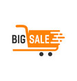 big sale label logo design template vector image