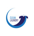 blue clean laundry logo vector image vector image