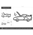 broken car line icon vector image vector image