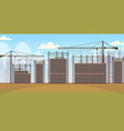 building construction site with cranes unfinished vector image