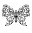 Butterfly Vintage decorative elements tattoo vector image